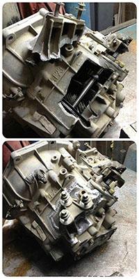Восстановление выломанного крепления механической коробки передач