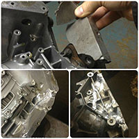 Восстановление расколотого корпуса автоматической коробки передач